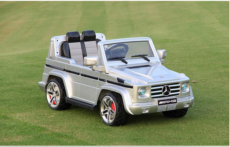 ô tô điện trẻ em AMG-G55 siêu sang màu bạc giá rẻ tại babikid.vn