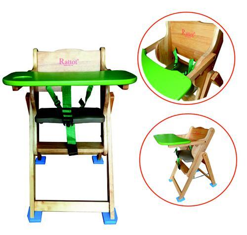 Ghế ăn bột cho bé gỗ thông etic, ghế gỗ tập ăn rotot, giá rẻ tại babikid.vn và thegioiecuabe.com