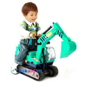 xe máy xúc , xe cần cẩu tàu Hing QX3319 có mũ bảo hiểm đồ chơi, giá rẻ tại babikid.vn
